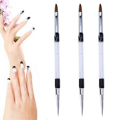 Liquid Powder Carving Brush Stripes Lines Flower Painting Drawing Nail Art Pen