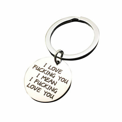 Valentine's Gifts for Husband Boyfriend Love Man Stainless Steel Keyring Fashion
