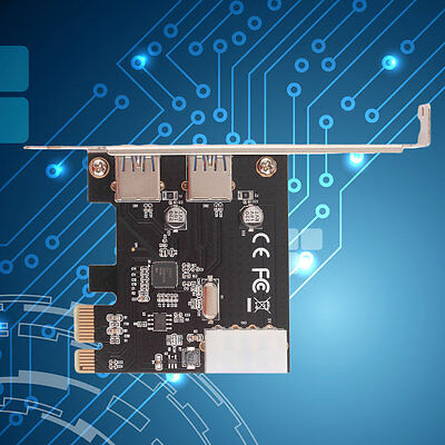 PCI-Express PCI-E to USB 3.0 2Port PC Expansion Adapter Card For Vista Win 7#XB