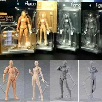 13CM Men Women Figma 2.0 Painting Prop Customize Action Movable Figure Model EK