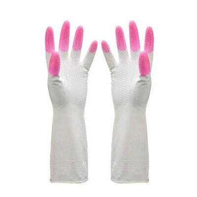 1Pair Long  Rubber Gloves Washing Up Cleaning Household Gloves Home Kitchen Tool