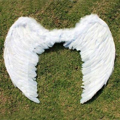 Children Cute Party Photography Costume Swan Angel White Feather Wings