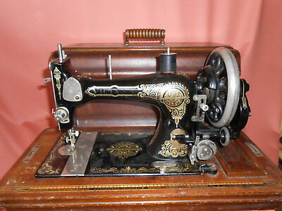 Rare Vintage Cased Victa VS  Sewing Machine Hand cranked or to fit treadle