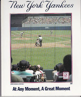 New York Yankees 1991 Official Team Yearbook Don Mattingly Free Shipping