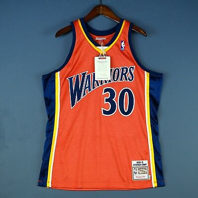 100% Authentisch Stephen Curry Mitchell Ness Warriors Trikot Herren Size 40 M