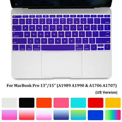 "Keyboard Cover Skin Soft Film For MacBook Pro With/Without Touch Bar 13"" 15"""