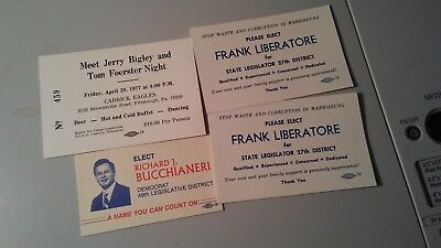 7 vintage Pennsylvania political campaign cards  (Lot 32118C)