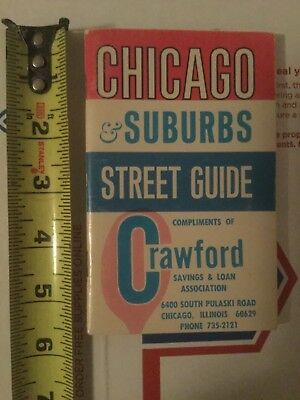 Vintage 1969 Chicago Illinois Suburbs Street Guide Book