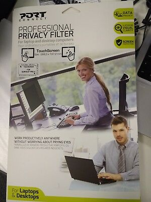 """Port Connect Professional Privacy Screen Filter 13.8"""" Touch Screen Compatible"""