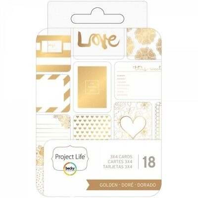 "Becky Higgins - Project Life - Cards 3""x4"" Golden"