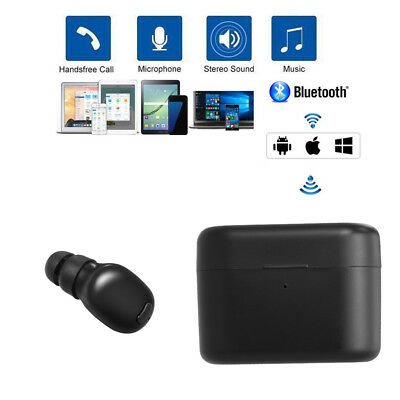 Wireless Earbud Headset Bluetooth 4.2 Earphone Mini Hands-free Headphone X7D0