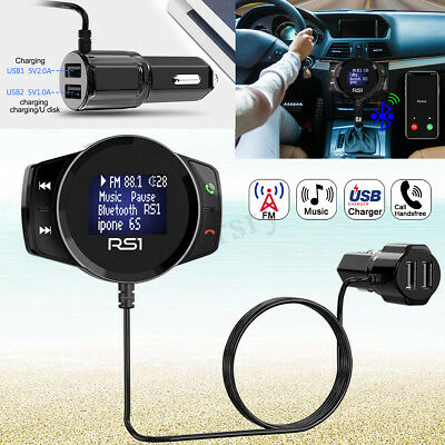 bluetooth FM Transmitter Quick Charger Auto Ladegerät Wireless MP3 Player