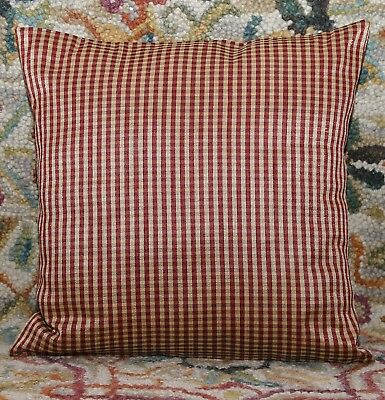 """BRAZIL PINK BEIGE STRIPED FAUX SILK 18/"""" CUSHION COVER TO MATCH CURTAINS #OIR"""