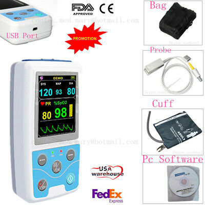 ABPM+SpO2 Ambulatory Blood Pressure Monitor 24h BP Blood Pressure Holter PM50