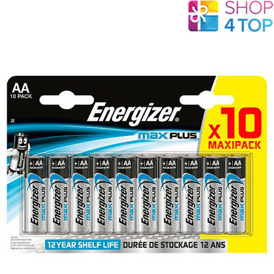 10 Energizer Max Plus Aa Lr6 Batteries Alkaline 1.5V Mignon Mn1500 Am3 E91 New