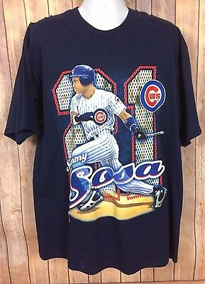 Sammy Sosa Chicago Cubs XL T-Shirt Baseball New With Tags Deadstock Pro Player