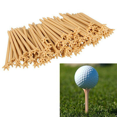 100 Pcs/Pack  fessional Frictionless Golf Tee Wheat Golf Tees Plastic .