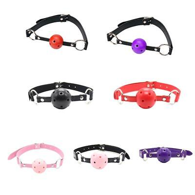 Open Mouth Gag With PU Leather Band Ball Adult Game Product Couples Flirting