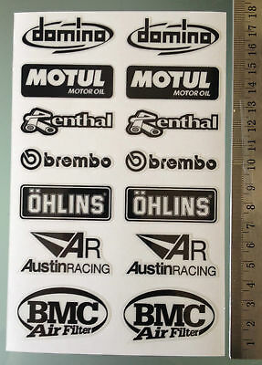 SPONSOR Decals Stickers kit Aprilia RSV4 Tuono Swingarm 14 pcs adesivi aufkleber