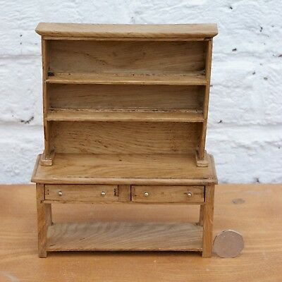Jacobean style dolls house miniature oak sideboard with dresser top