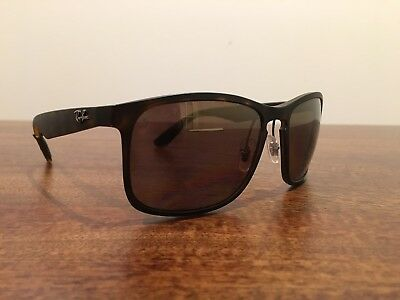 42d76607532 Ray-Ban Chromance RB 4264 894 6B Matte Havana Sunglasses Brown Flash  Polarized