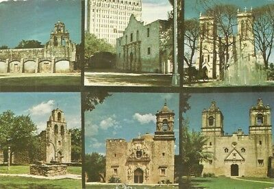 Multi-View Postcard Of Missions, Chrome, Posted, San Antonio, Texas