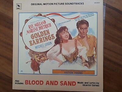 """Lp Soundtracks """"golden Earrings Und  """"blood And Sand"""""""