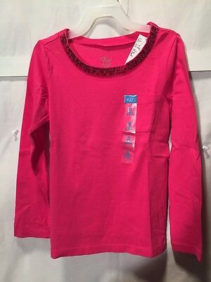 NWT Childrens Place Pink Top Sequin Trim Long Sleeve Size 5/6