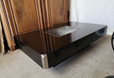 Table basse vintage WILLY RIZZO modèle ALVEO