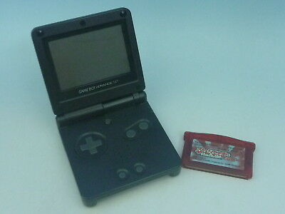 Nintendo Game Boy Advance SP Onix Black Console Tested with Pokemon EMS from JP