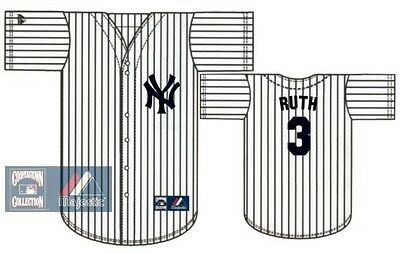 186e2be6d NEW!! YANKEES  3 BABE RUTH New York Retro Stitched Pinstripe Jersey ...