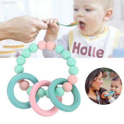 1746 Baby Teether Baby Rattle Silicone Mother Cartoon Educational Chew Handbell