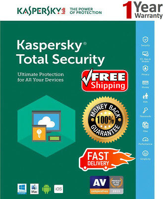 KASPERSKY TOTAL Security 2019 1 Device /1Year / For US /Win-Mac-Android 8.25$