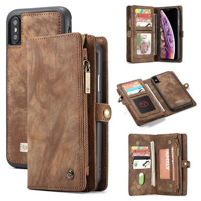 Apple Samsung Leather Removable Wallet Magnetic Flip Card Case Cover Skin USCC