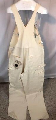 NOS 7 FB White Painter Bib Overall Carhartt New with Defects (R19)