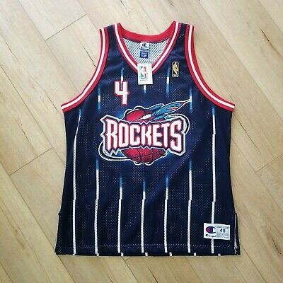07f94a50e 100% Authentic Charles Barkley Vintage Champion Rockets Jersey Size 48 XL L