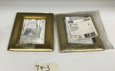 Hubbell SB3083 Scrubshield Brass Carpet Flange One 1 Gang Cover *Fast Shipping*