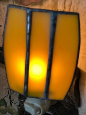Hand made stained glass lantern night light