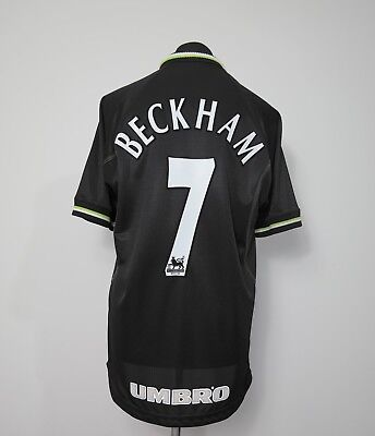 Manchester United Away/3rd Football Shirt Adult Medium BECKHAM #7 1998/1999