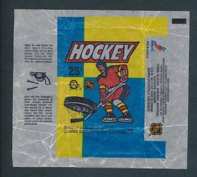 Lot of 2 - 1983-84 OPC Hockey Wrappers  Rare O-Pee-Chee NHL Vintage Package