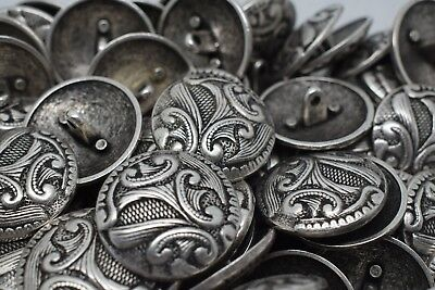 Special Design Antique Silver Metal Italian Buttons C2113 Jacket Coat Sewing