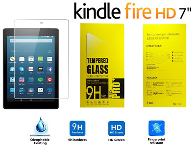"""Genuine Tempered Glass Screen Protector For AMAZON KINDLE FIRE 7"""" inch (2017)"""