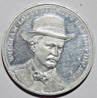 1899 Dem. William Loeffler, Chicago City Clerk, Re-Election Campaign Token Medal