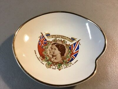 "1959 Queen Elizabeth II & Prince Philip ""Opening St. Lawrence Seaway"" Ashtray"