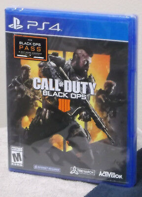 Call of Duty Black Ops 4 IIII PlayStation 4 BRAND NEW Factory Sealed FREE Ship!