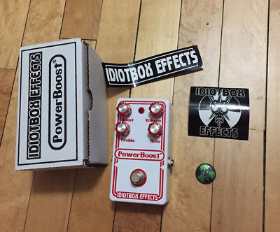 Idiotbox PowerBoost Guitar Overdrive Pedal Colorsound Power Boost Overdriver