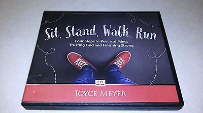 SIT, STAND, WALK, RUN 4 STEPS TO PEACE OF MIND 4-CD set: JOYCE MEYER  BRAND NEW