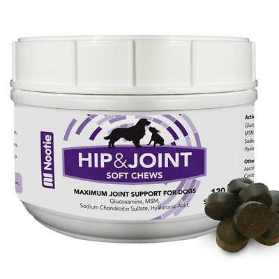 Nootie Glucosamine Chondroitin Hip and Joint Supplement for Dogs 120 Soft Chews