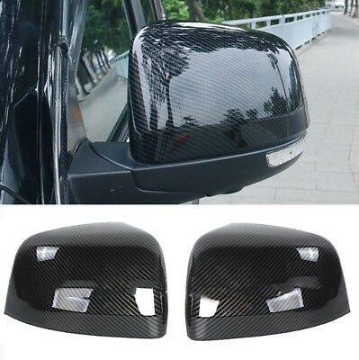 For Jeep Grand Cherokee 2011 Vehicle Rear Mirror 2x Carbon Fiber ABS Cover Trim