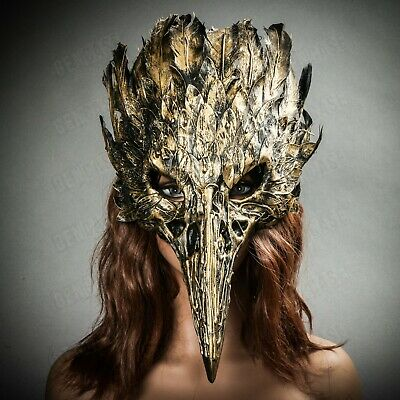 Luxury Antique Gold Black Venetian Party Masquerade Mask for Men Prom Costume